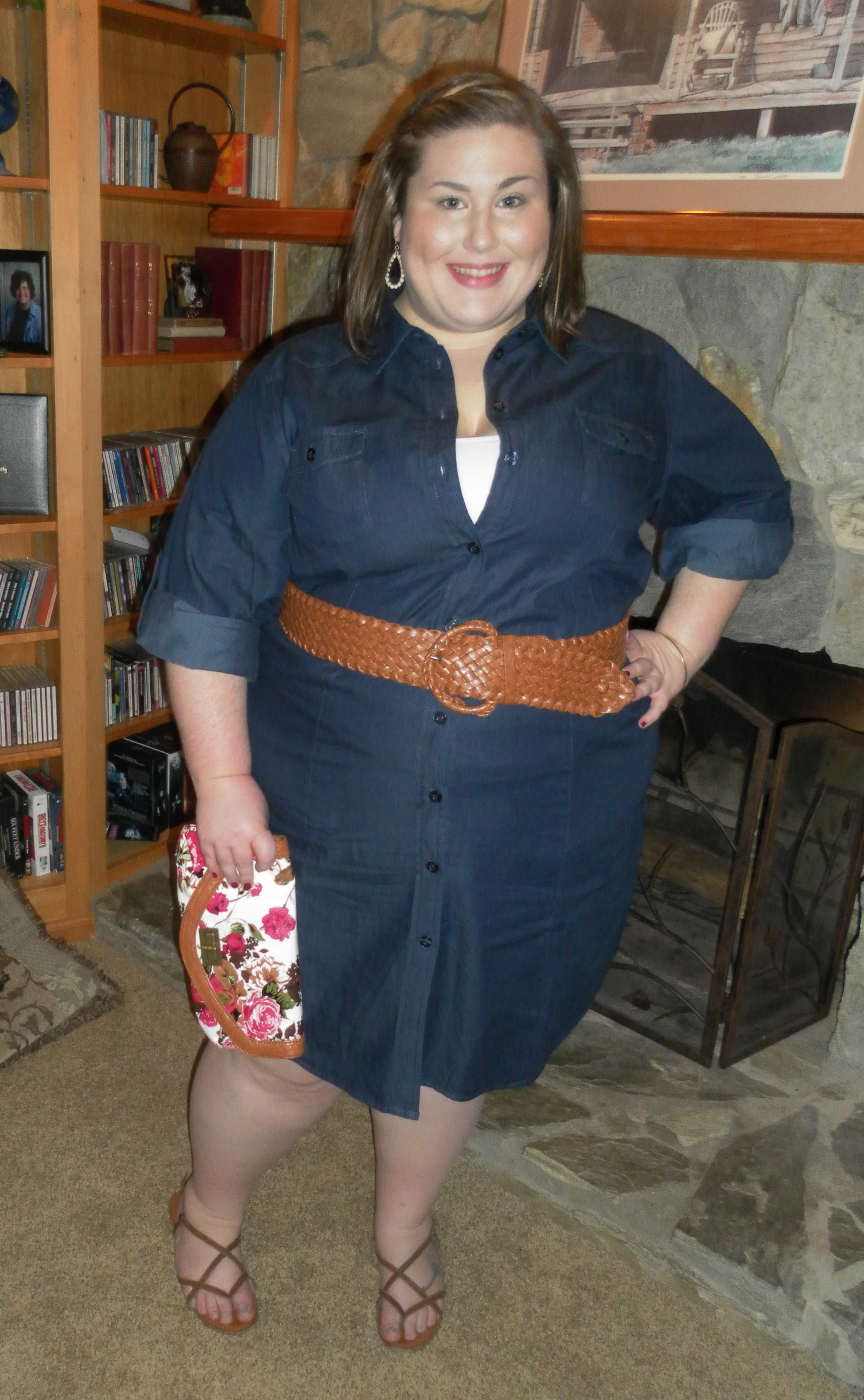 OOTD: The (Almost) Perfect Denim Shirt Dress | theplussideofme