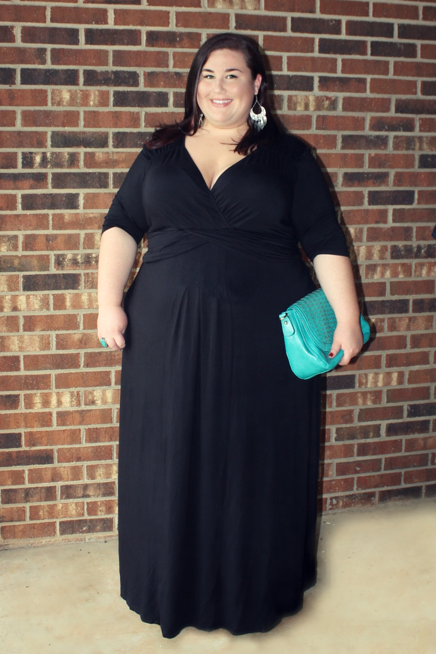 How to accessories a black maxi dress